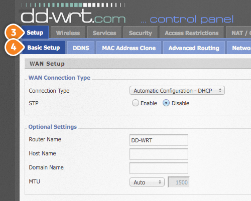 DD-WRT Smart DNS Setup: Step 2