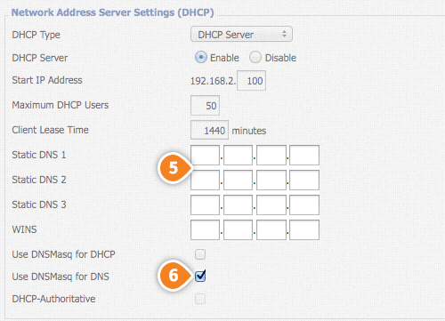 DD-WRT  Smart DNS Setup: Step 3