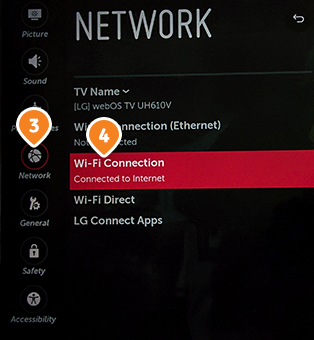 How to set up Smart DNS on LG TV: Step 3