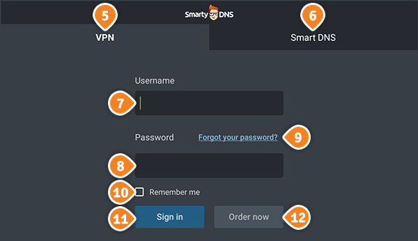 How to set up SmartyDNS App for Android TV: Step 4