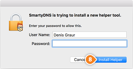 How to set up SmartyDNS App for macOS: Step 4