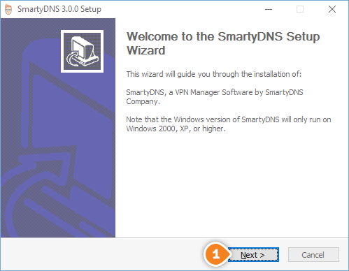 How to set up SmartyDNS App for Windows: Step 1