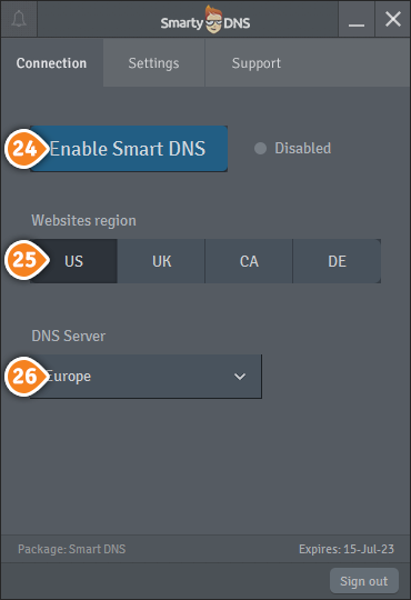 How to set up SmartyDNS App for Windows: Step 14