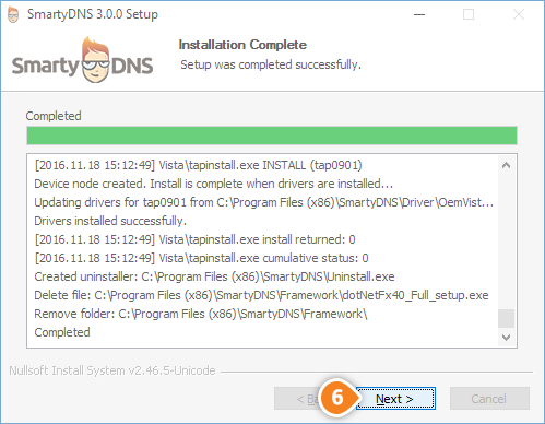 How to set up SmartyDNS App for Windows: Step 6