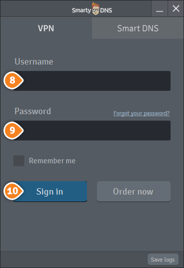How to set up SmartyDNS App for Windows: Step 8