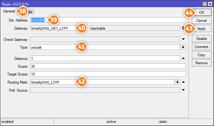 How to set up L2TP VPN on Mikrotik Routers: Step 13