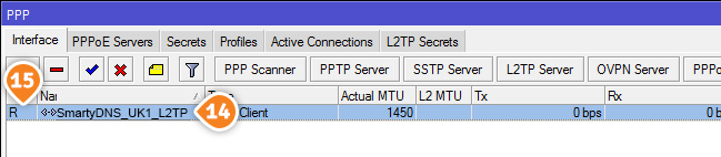 How to set up L2TP VPN on Mikrotik Routers: Step 6