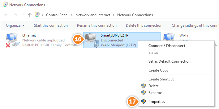 How to set up L2TP on Windows 10: Step 7