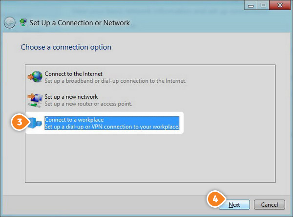 How to set up L2TP on Windows 8: Step 3