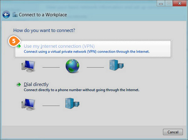 How to set up L2TP on Windows 8: Step 4
