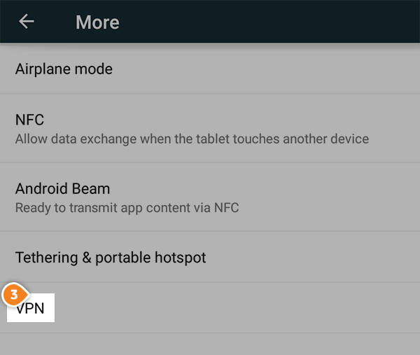How to set up PPTP on Android Lollipop: Step 3