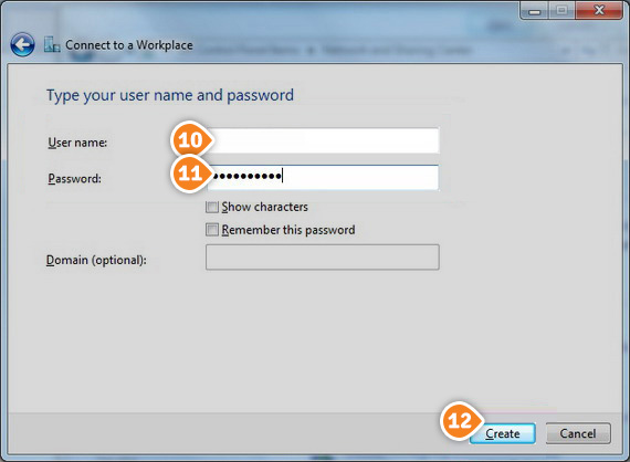 How to set up PPTP on Windows 7: Step 6