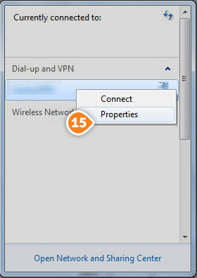 How to set up PPTP on Windows 7: Step 9