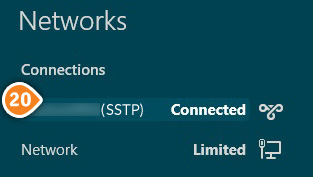 How to set up SSTP on Windows 8: Step 11
