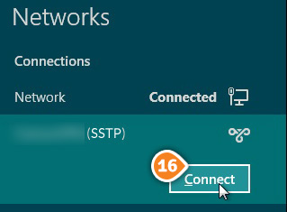How to set up SSTP on Windows 8: Step 9