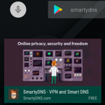 SmartyDNS VPN app now available on Fire TV!